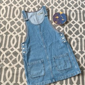 Top shop jean overall dress